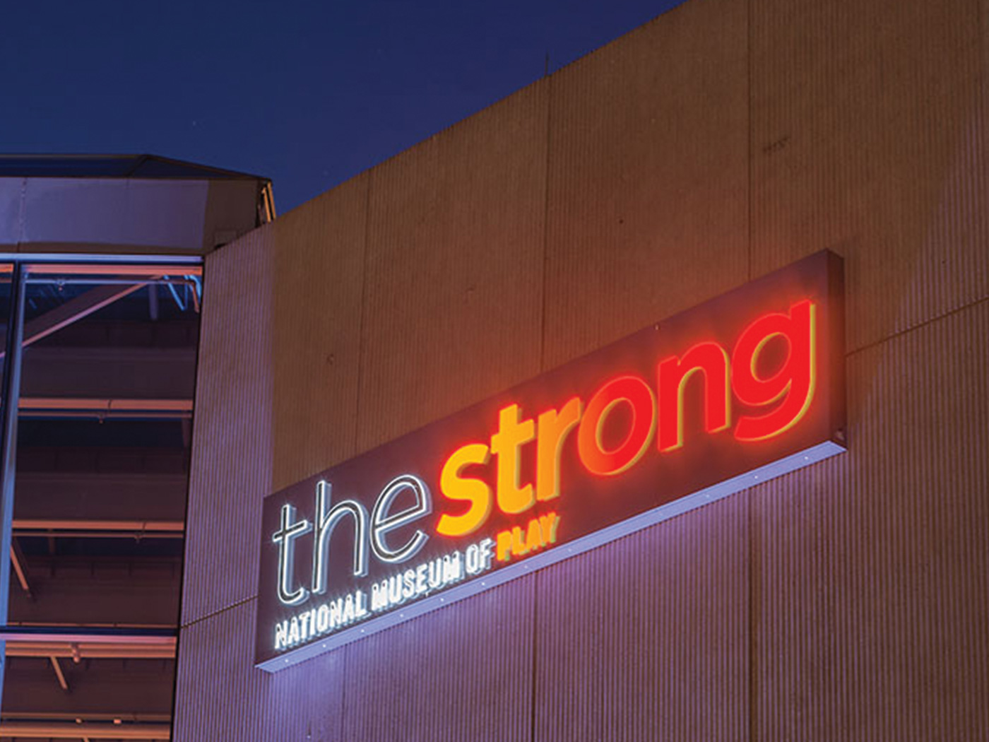 The Strong Illuminated Sign
