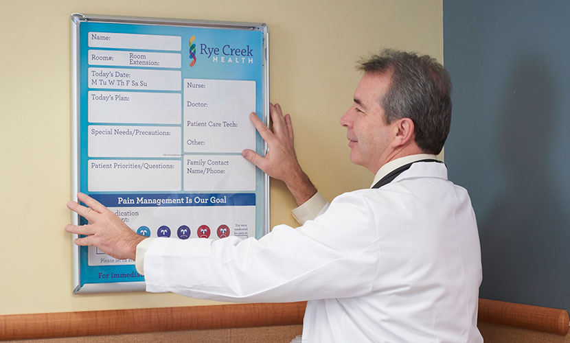 setting up a patient care board