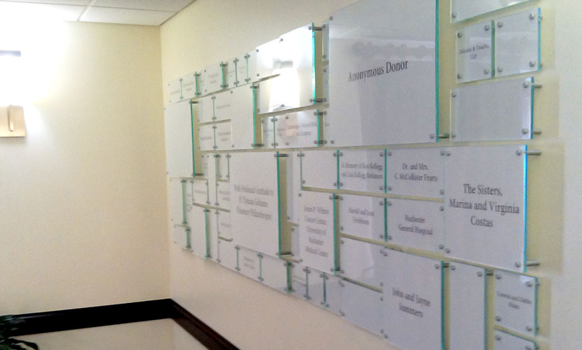 Hope Lodge donor wall