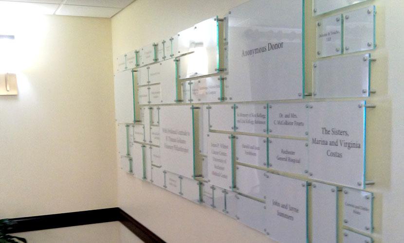Hope Lodge donor wall