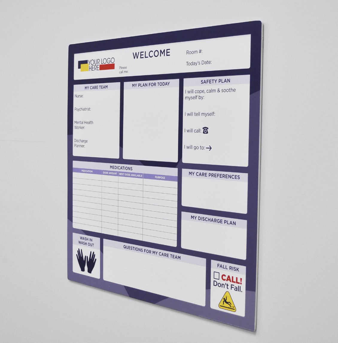 frameless behavioral board