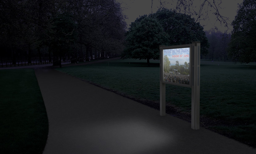 solar display case
