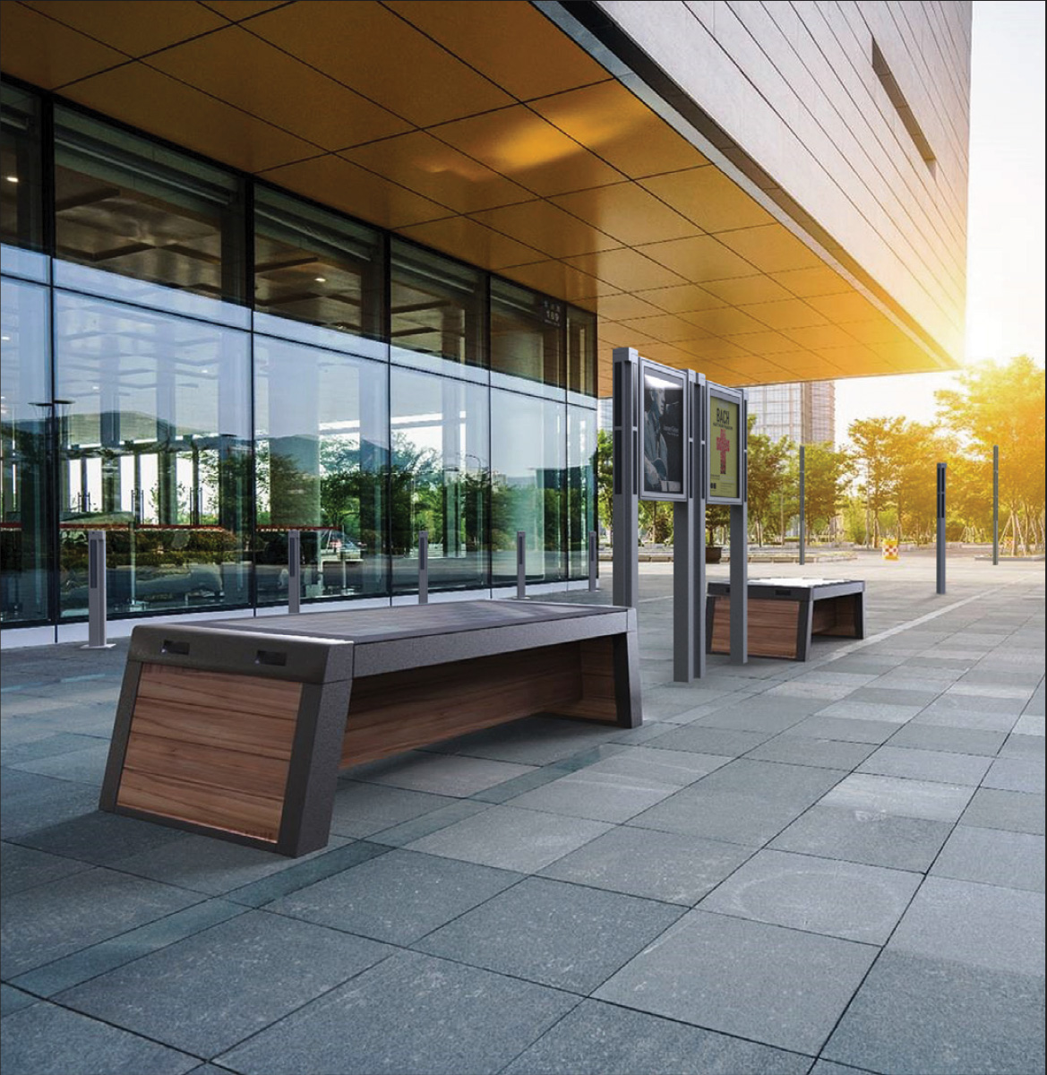 Solar Smart Bench