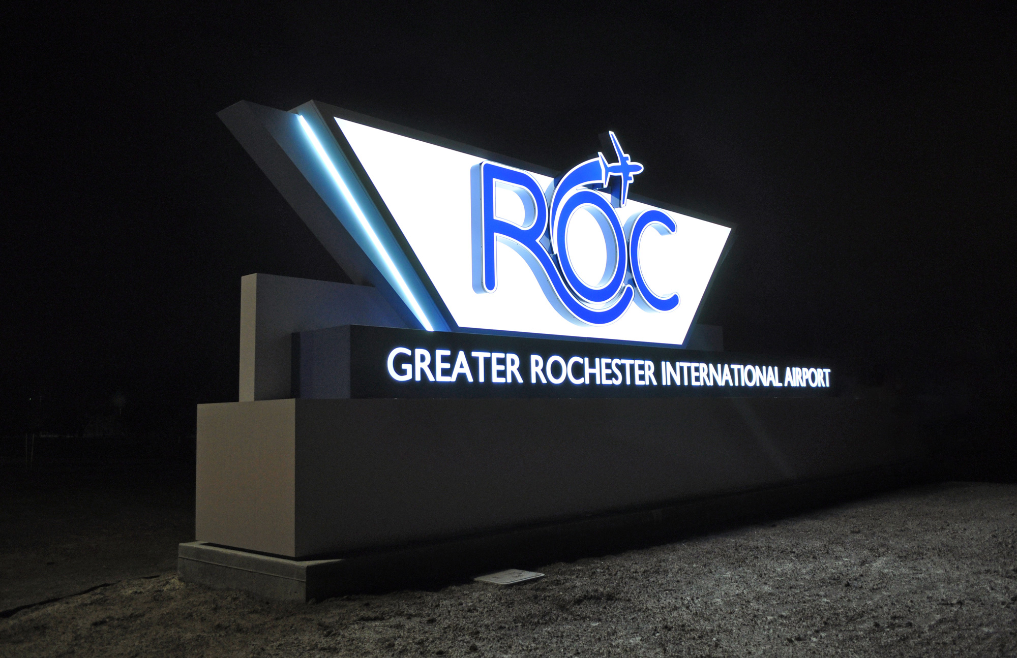 Architectural Signs at Rochester Airport