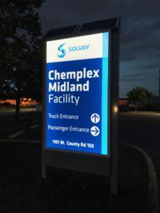 Illuminated Wayfinding Signage at Solway