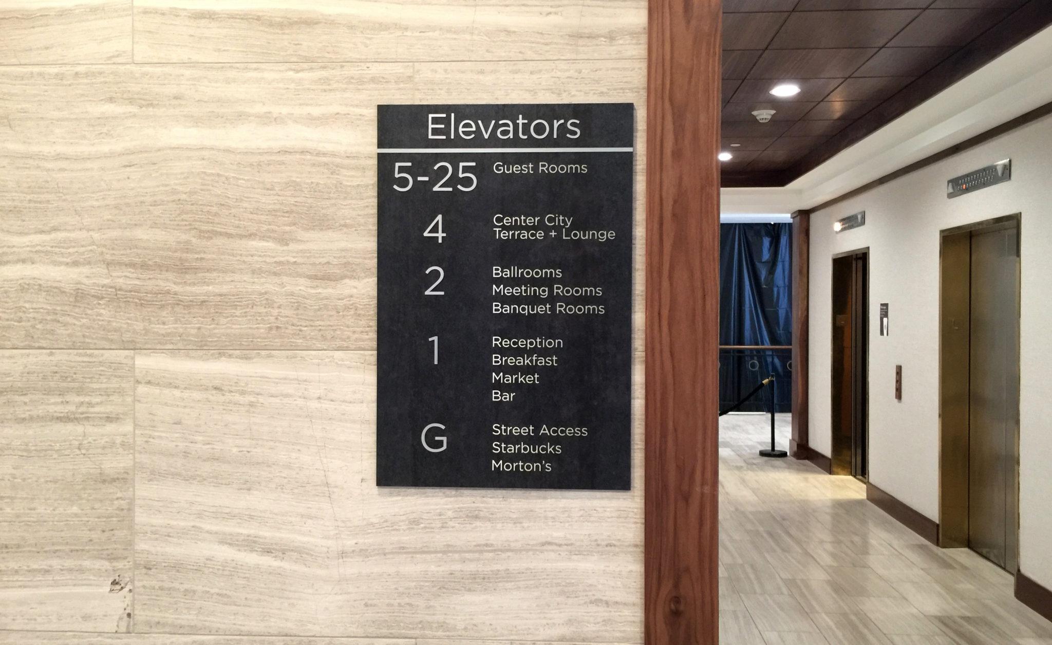 Hyatt Wayfinding Signage