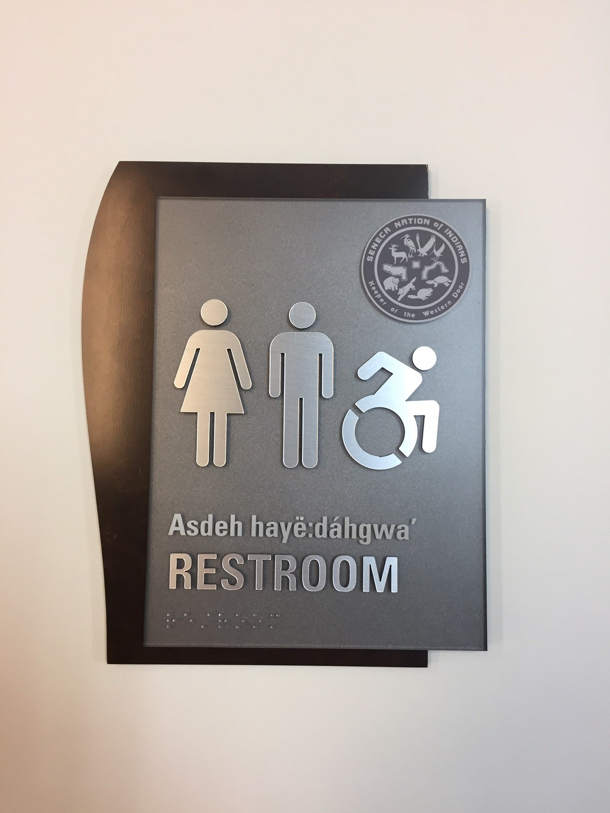 Seneca Nation ADA Restroom Sign