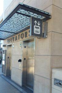 hospital decision points elevator signage