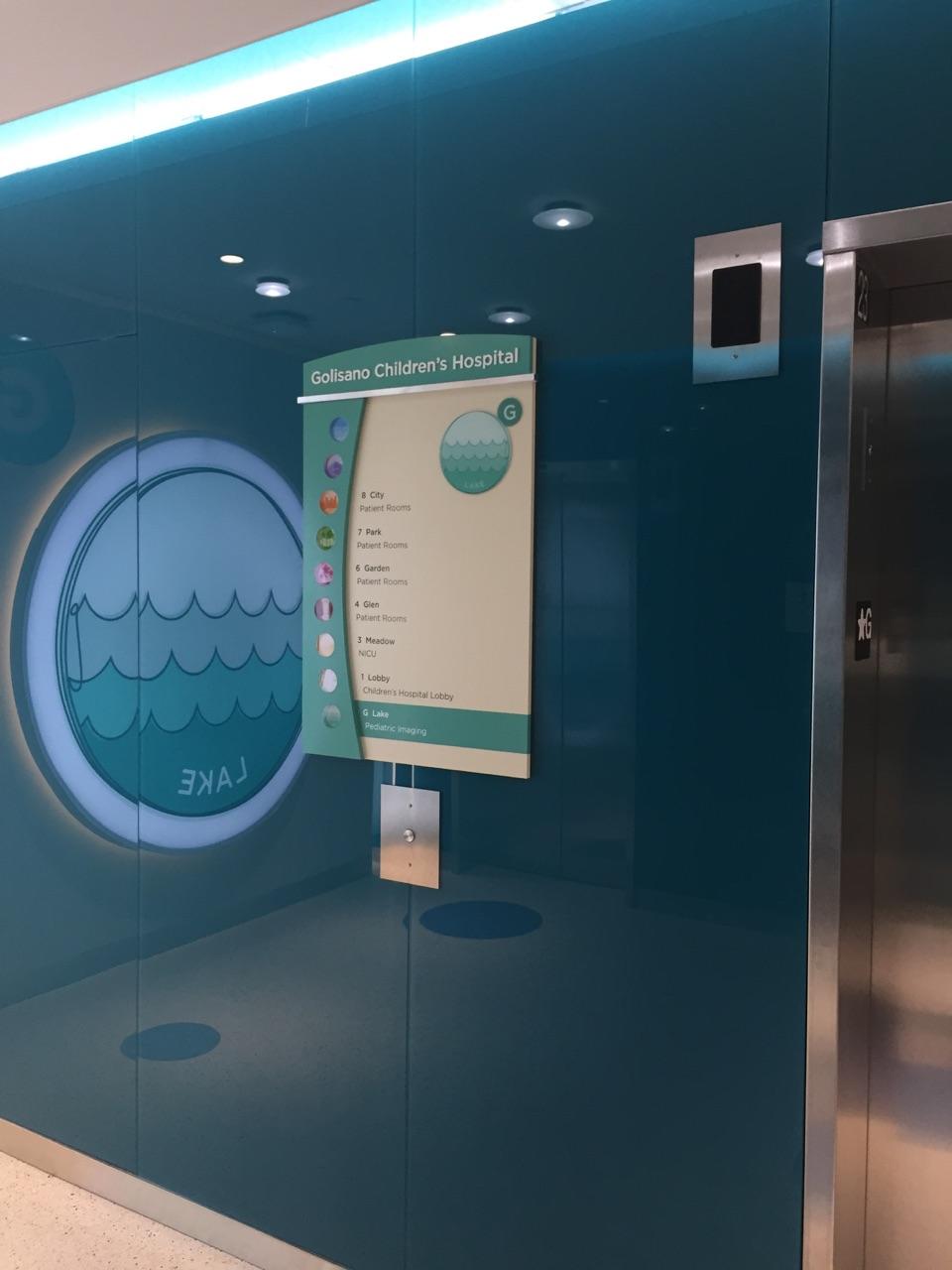 Golisano Children's Hospital Elevator Signage