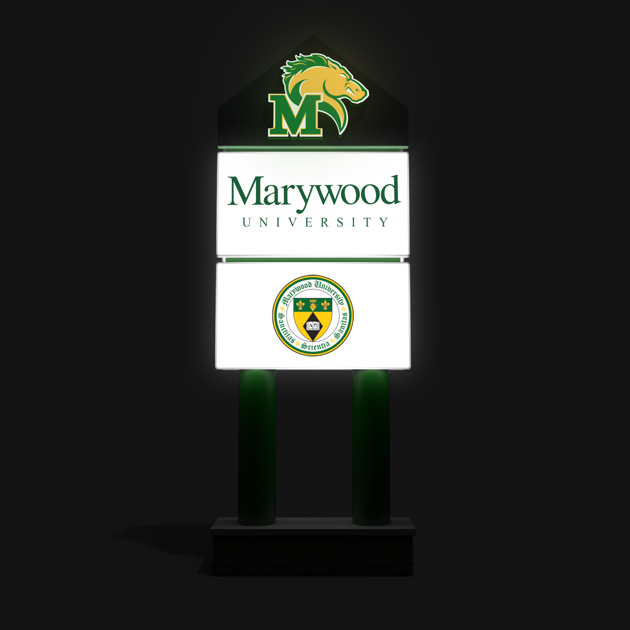 Design Facilitation Signage for Universities | Lighted Signs