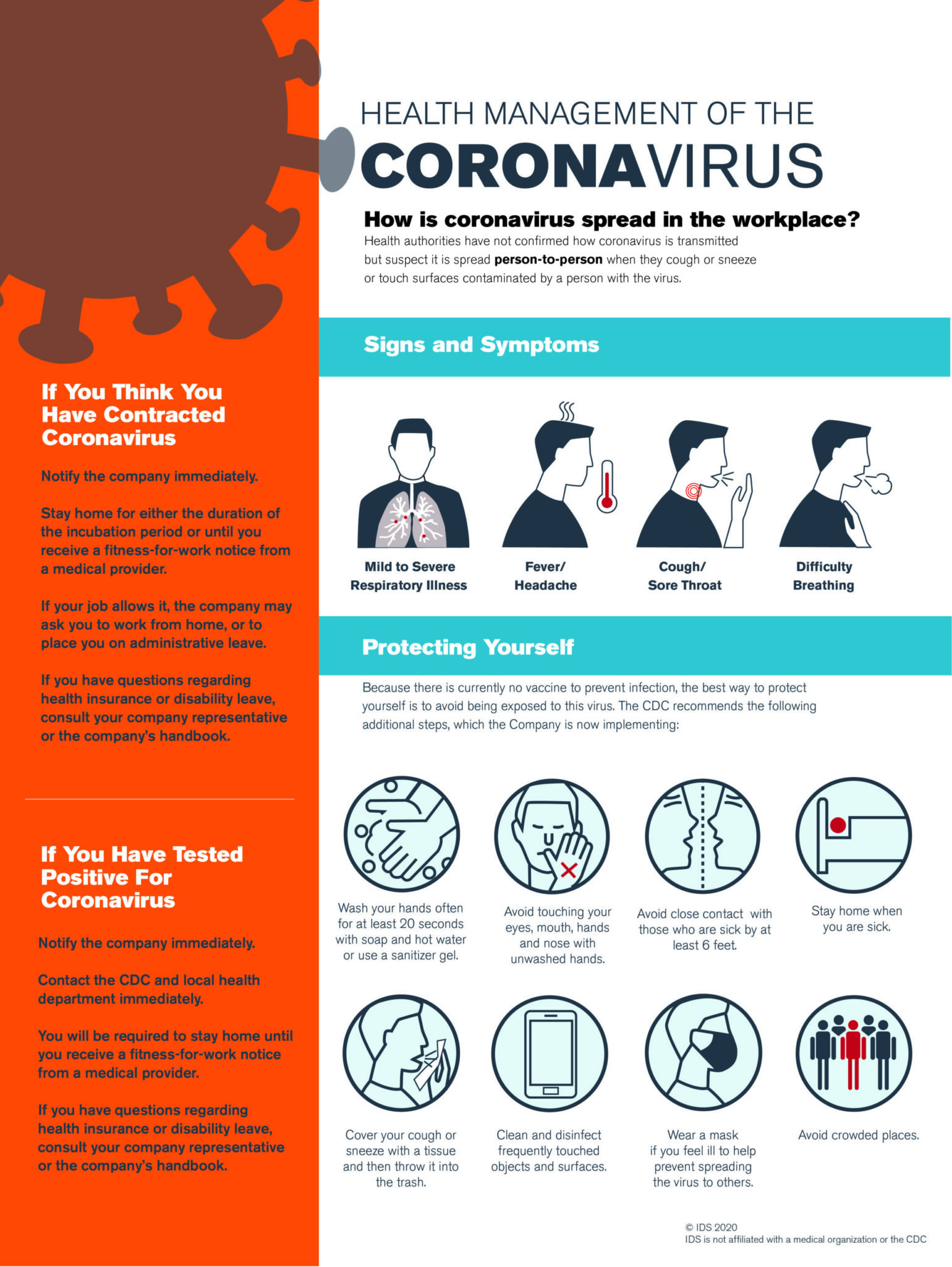 COVID-19 Workplace Poster