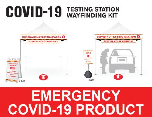 COVID-19 Testing Station Wayfinding Kit