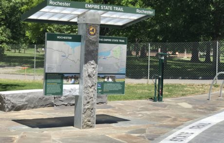 Park & Trail Sign for Empire State Trail by ID Signsystems