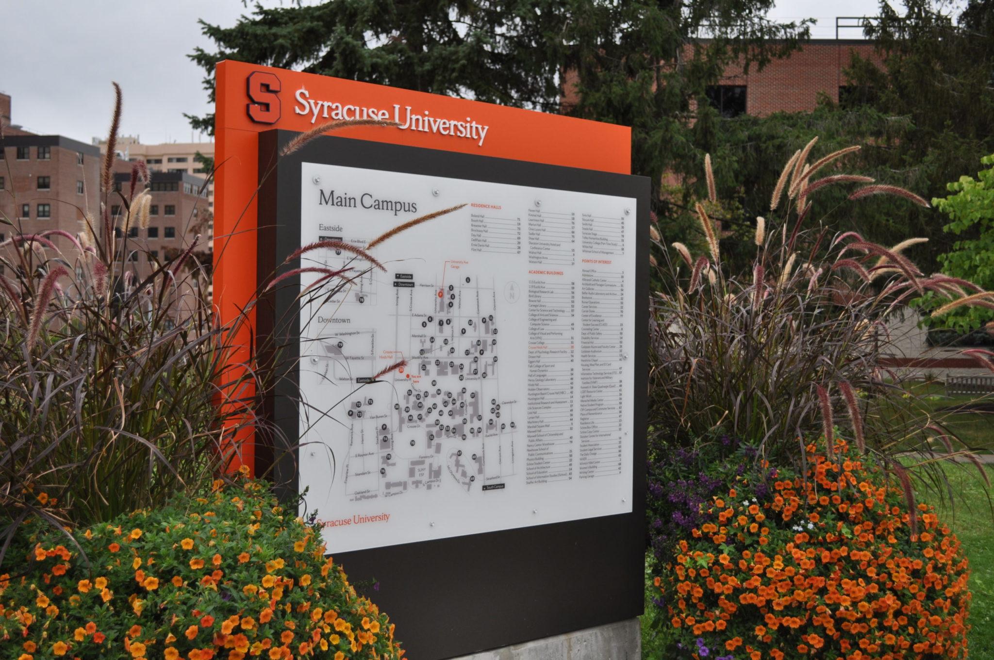 Syracuse University exterior map