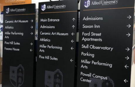 Alfred University Branding & Wayfinding - Ready for Installation