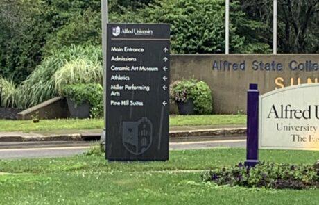 Alfred University Branding & Wayfinding Sign