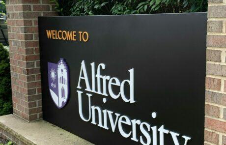 Alfred University Branding & Wayfinding - Landmark Sign