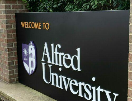 News | Alfred University Unveils Sleek New Campus Signage